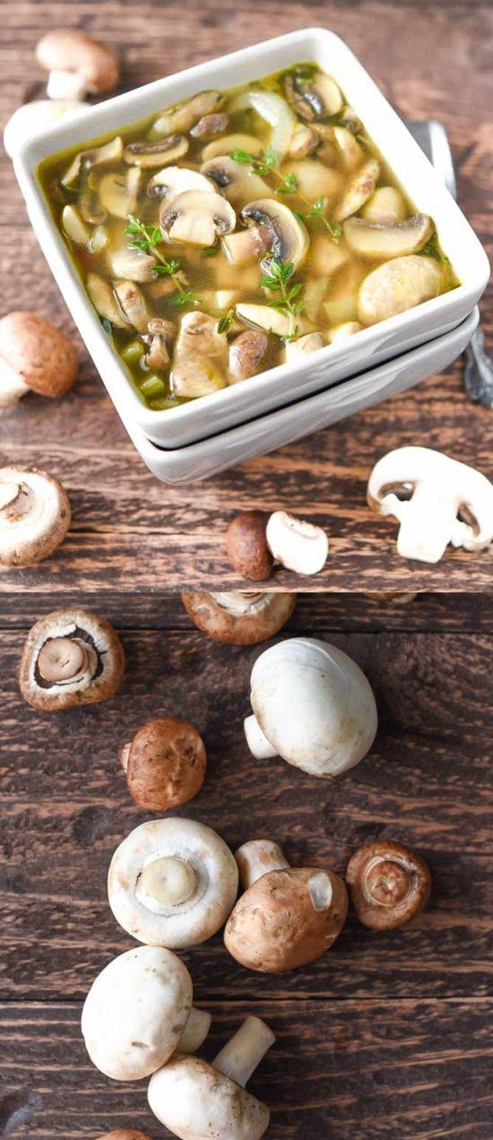 HEALTHY MUSHROOM SOUP - carrot, chicken, healthy, mushroom, recipes, soup
