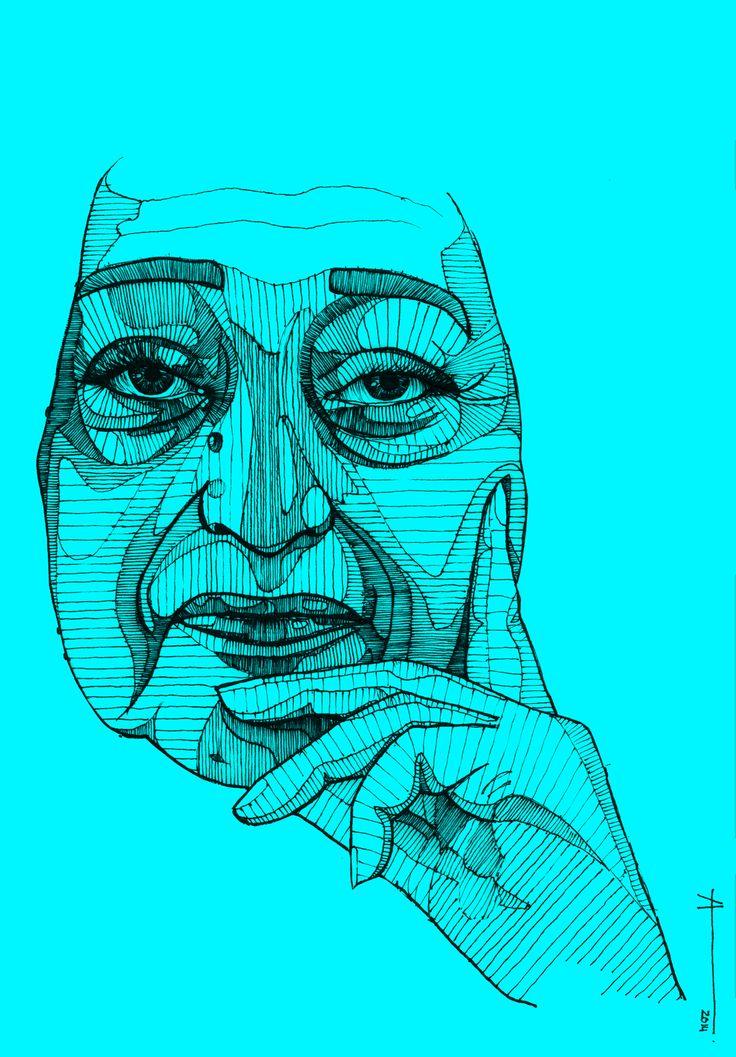 We mourn the loss of Dame Zaha Hadid (1950-2016); Drawing © Francisca Alvarez Ainzúa