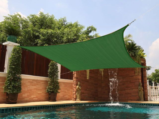 New Premium Clevr Sun Shade Canopy Sail 12u0027 Square UV Outdoor Patio Green  From Crosslinks