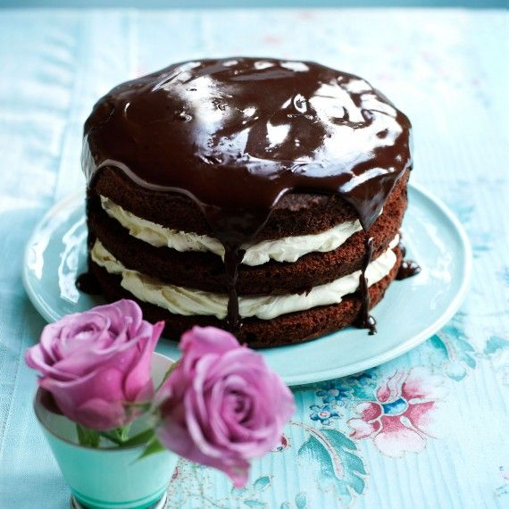 Chocolate Cake with Passion Fruit and Lime - Woman And Home