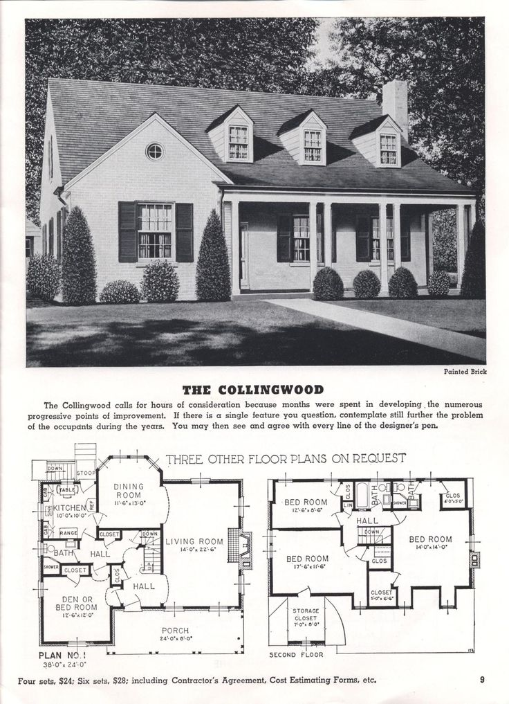 Homes Of Today And Tomorrow B 48 Standard Homes Co Free Download Borrow And Streaming Internet Archive Floor Plans Vintage Architecture Vintage House Plans