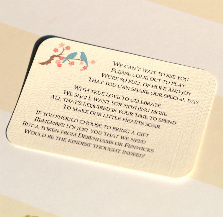 Wedding Invitation Gift: 21 Best Monetary Gift Wording Images On Pinterest