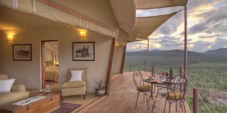 Each villa at Saruni Samburu has a unique view, innovative style and subtle Swahili touches...soak up the sun, breathe in the pure air and relish in the beautiful panoramic #views from your private villa on #safari with Saruni.