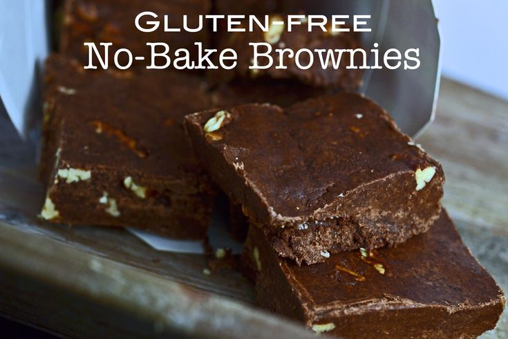 Gluten-free No-Bake Brownies recipe