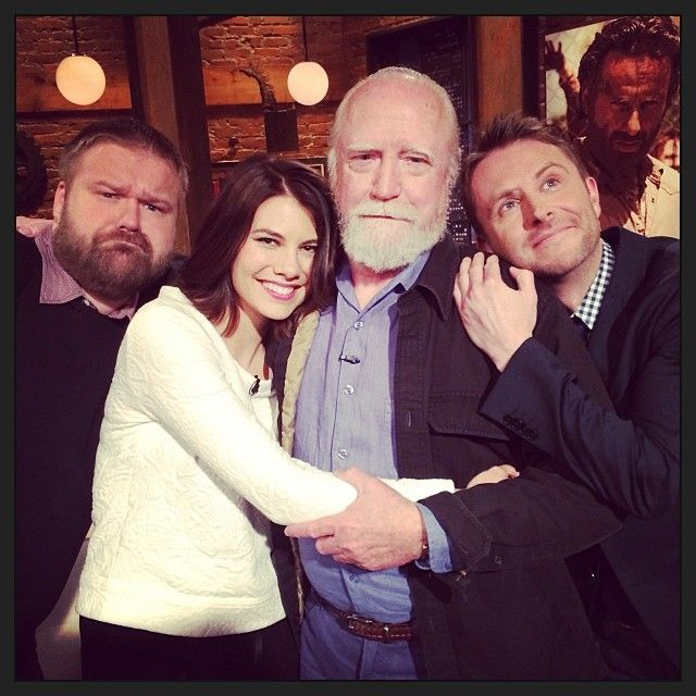 Robert Kirkman, Lauren Cohan, Scott Wilson, & Chris Hardwick from Talking Dead