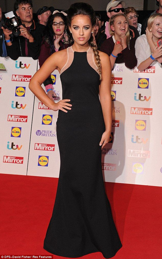 Sultry: Coronation Street's Georgia May Foote looked sultry in her floor-length black gown
