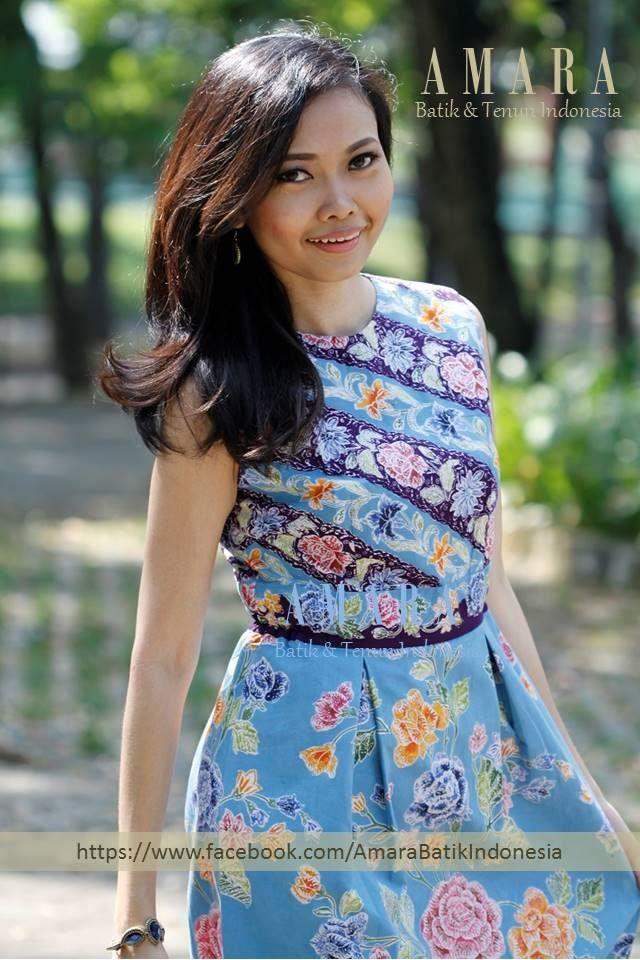 Blue - Batik Encim Pekalongan Dress