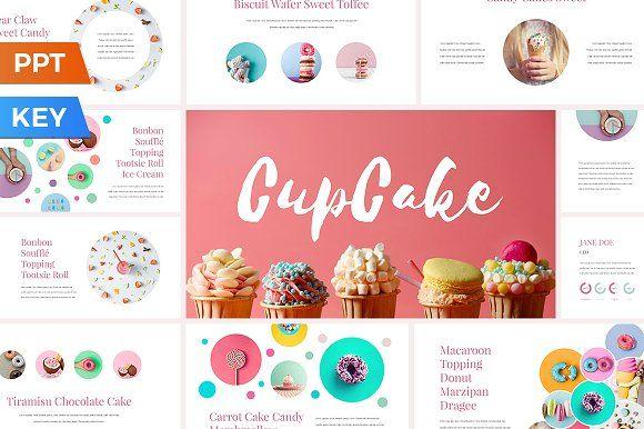 CupCake Presentation Template by SlideStation on @creativemarket