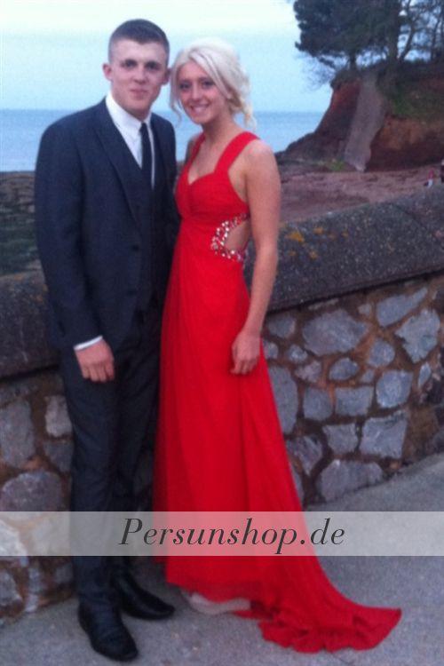 Sexy Chiffon Ballkleid mit Cut-out Rücken / Prom Dress Evening Dress