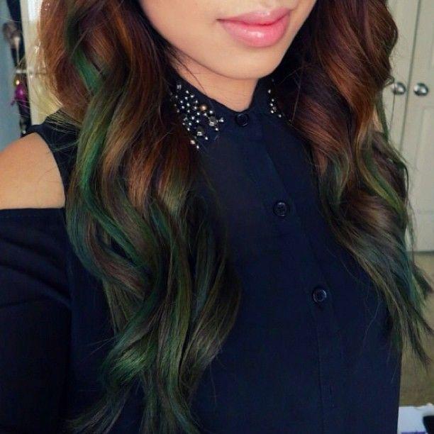 promise phan's green ombre hair