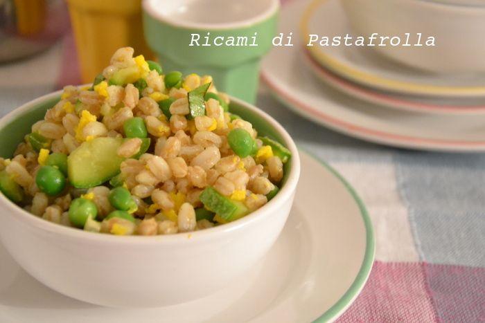 insalata di farro - ricette low cost - ricette facili - veg