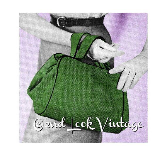 Vintage 1950s Custom Purse Doctor Bag Satchel Handbag DIY