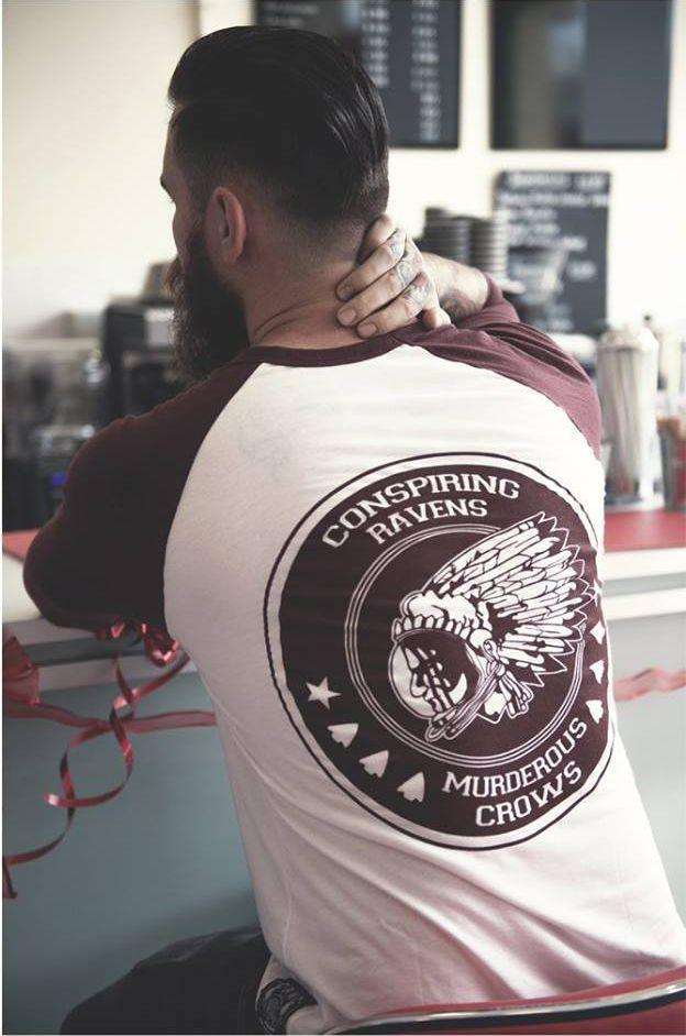 """Space Chief"" Raglan Tee available at www.crmc-clothing.co.uk | WE SHIP WORLDWIDE Model - @petebutchers #alt #altwear #altfashion #altstyle #alternative #alternativefashion #alternativestyle #instafashion #fashionstatement #fashiongram #fashionista #instastyle #stylegram #instagrunge #fashionoftheday #dailyfashion #fashionaddict #tattooedmen #guyswithtattoos #style #alternativeguy #alternativeboy #igers #love #instagood #picoftheday"