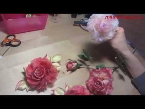 Мастер-класс Роза из ткани в японской технике (полный)