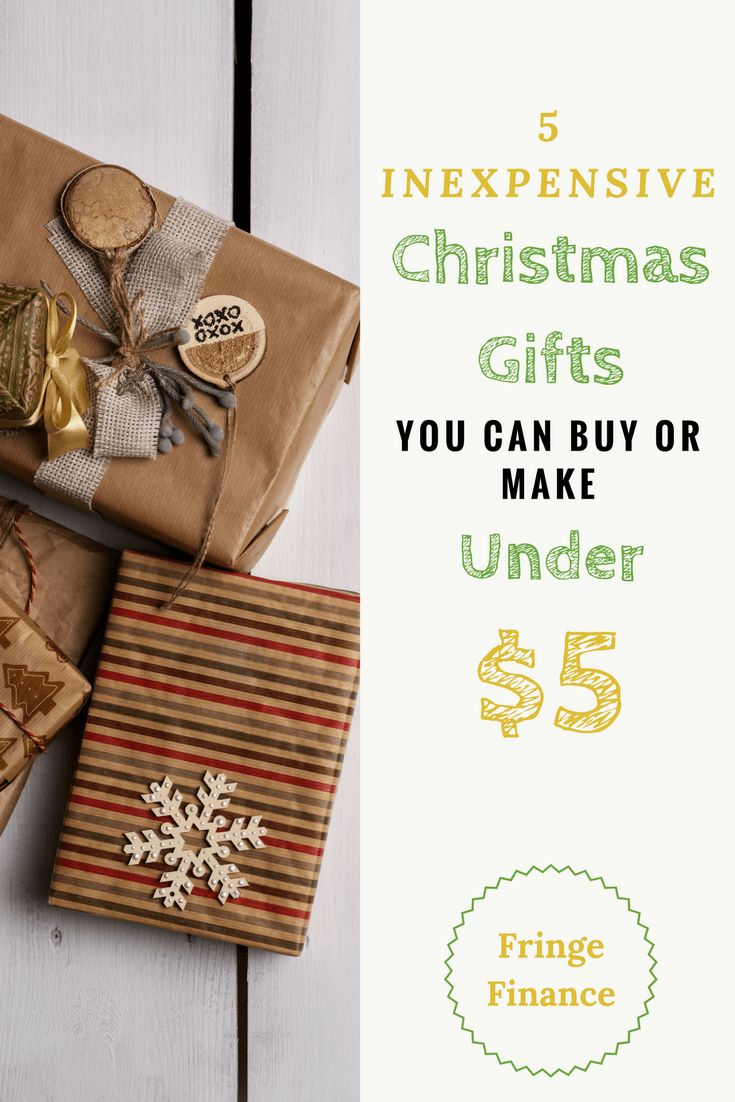 5 Inexpensive Christmas Gifts Under $5   Inexpensive ...