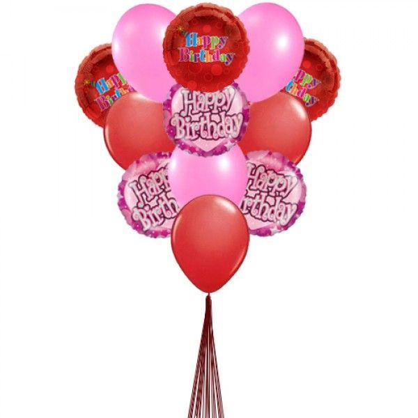 Cheering birthday balloons ( 6 Latex & 3-Mylar Balloons )