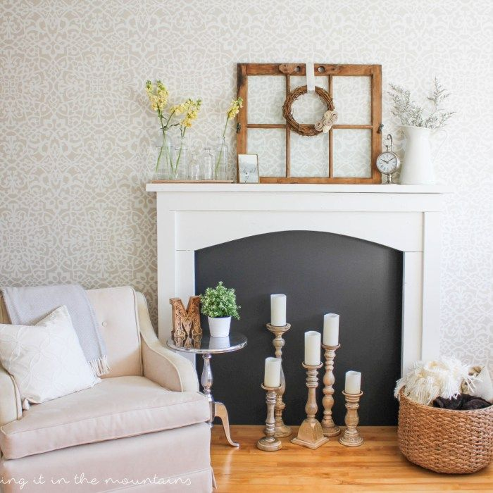 learn how to style a fireplace with these simple tips