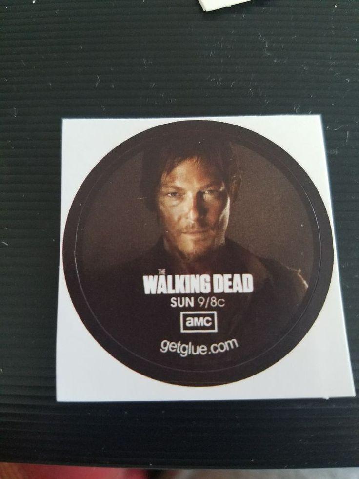 GetGlue Sticker Walking Dead Daryl  season 1 Rare Collectible Original