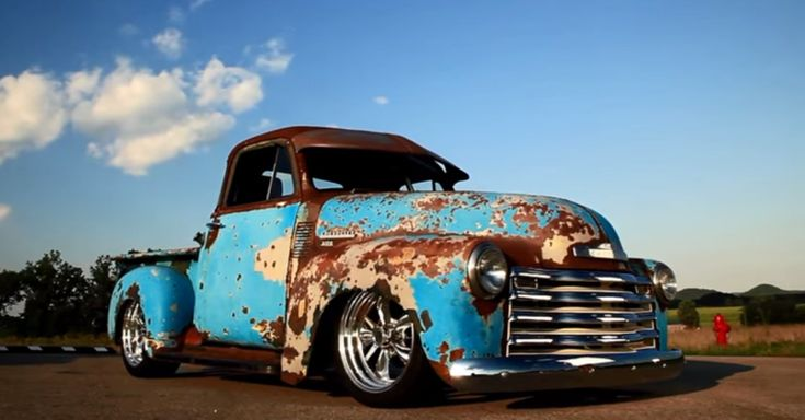 """1951 Chevy 3100 Pick up Truck called """"Crazy Horse"""" – One really cool hot rod by the """"Patina Shop"""" Double click  for the video"""