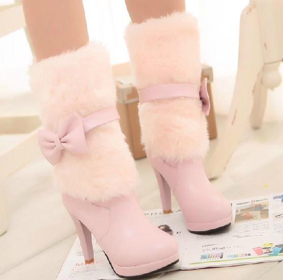 Miss snow white-High Heels Boots - stylishplus.com