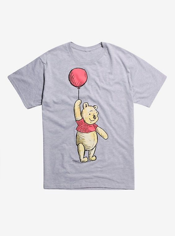 d7fce07b5 Disney Winnie The Pooh Floating Balloon T-Shirt Hot Topic Exclusive,  HEATHER GREY, hi-res