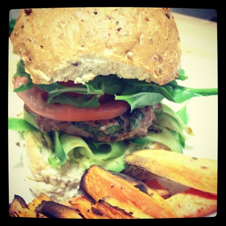 Michelle Bridges delish Thai Chicken Burger from 12wbt