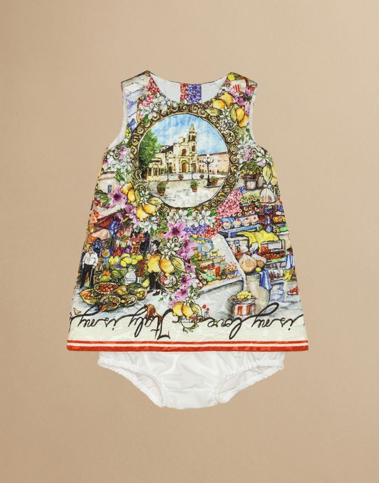 DRESS IN PRINTED BROCADE WITH PANTIES - Romper suits - Dolce&Gabbana - Summer 2016
