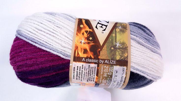 Príjemná melírovaná akrylová vlna, ktorá pletením, alebo háčkovaním vytvára pásiky rôznych farieb (farby závisia od farby klbka) 100% akryl 100g/ 210m