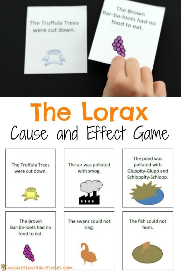 This Lorax Cause and Effect Matching Game is perfect for discussing the environmental message within the story of The Lorax by Dr. Seuss.