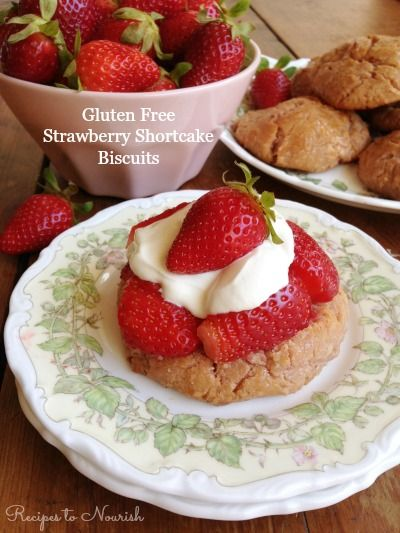 Gluten Free Strawberry Shortcake Biscuits ... the most delicious, wholesome, nutrient-dense spring dessert. It's so easy to make too! | Recipes to Nourish