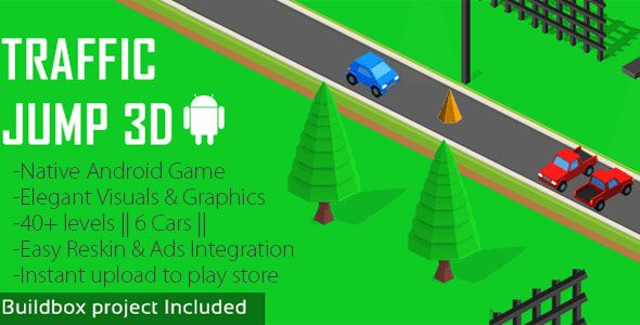 Traffic Jump 3D Android Game Download: https://codecanyon.net/item/traffic-jump-3d-android-game/17278143?ref=Ponda