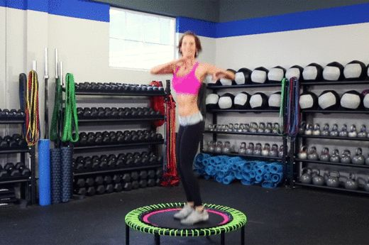 The Mini Trampoline Workout You'll Feel All Over