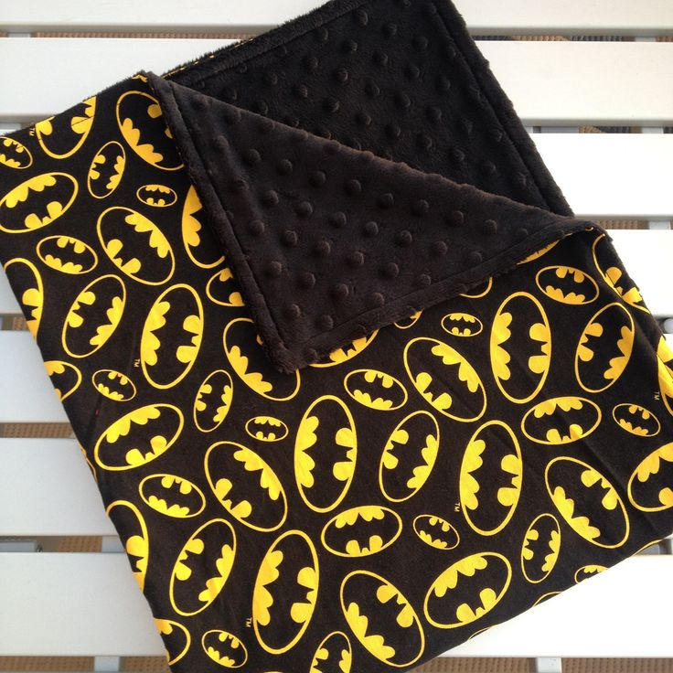 Batman Baby Blanket, Personalized Baby Blanket, Minky Blanket, Minky Baby Blanket,  Baby Blanket, Infant, Custom Made Blanket by SouthernSewnDesigns on Etsy