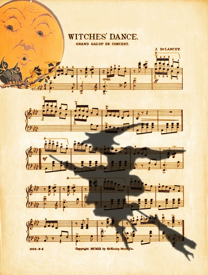 print and frame witches dance for your halloween decor - Dance Halloween Songs