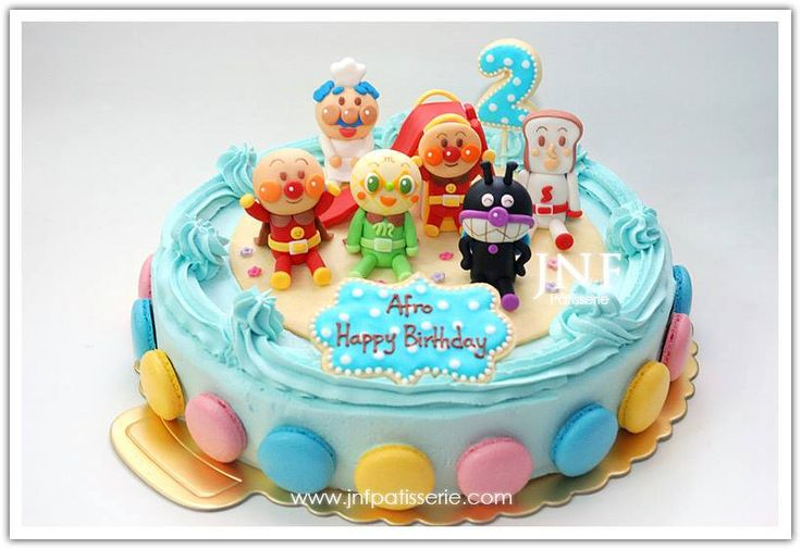 22 best anpanman cake images on pinterest birthday party for Anpanman cake decoration