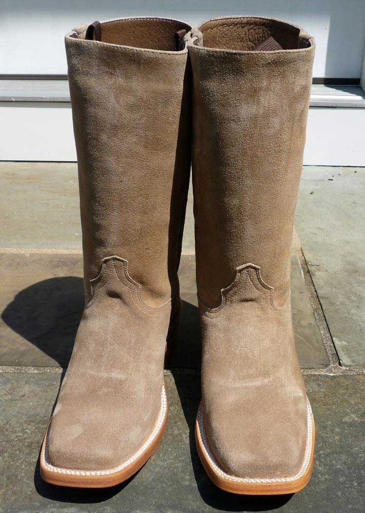 spaghetti western clint eastwood style suede cowboy boots