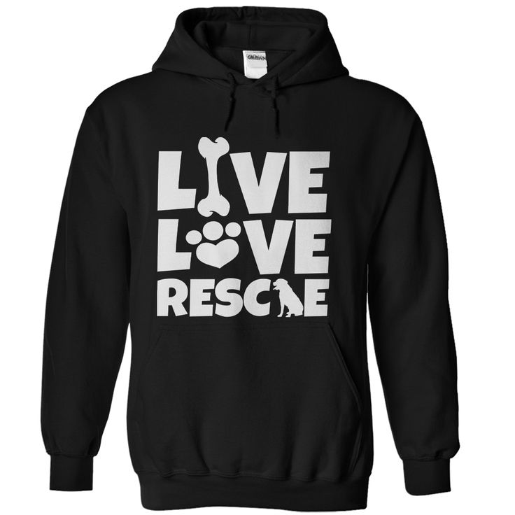 Live Love Rescue Dog. Funny, Cute, Clever Dog and Puppy Quotes, Sayings, T-Shirts, Hoodies, Tees, Coffee Mugs, Clothes, Gifts. #dogs