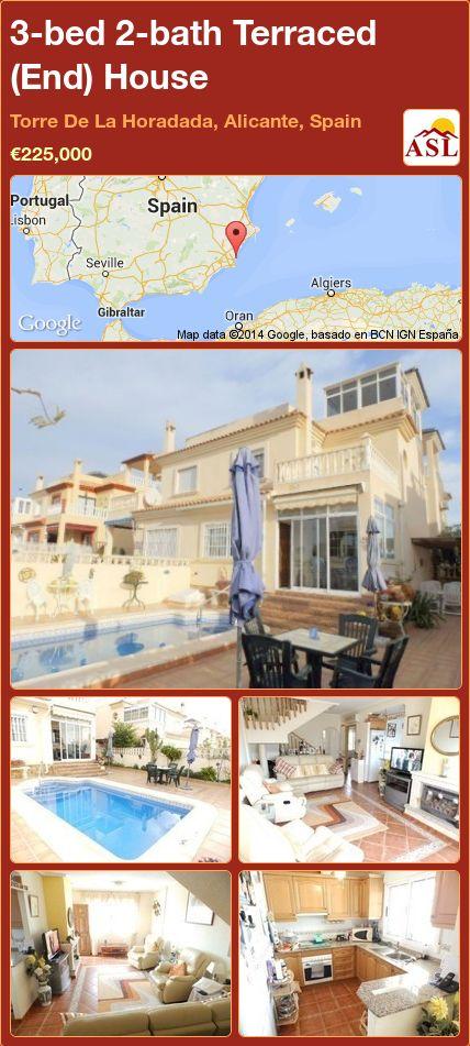 3-bed 2-bath Terraced (End) House in Torre De La Horadada, Alicante, Spain ►€225,000 #PropertyForSaleInSpain