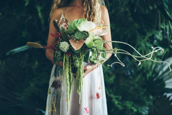 Earthy and wild bouquet we created for our bride, Marlene. Photo by Stephanie Veldman