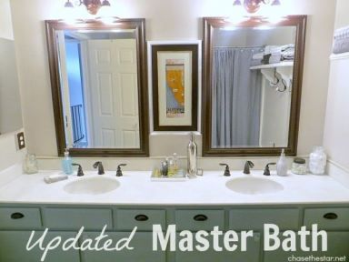updated master bath via chase the star simple updates like new