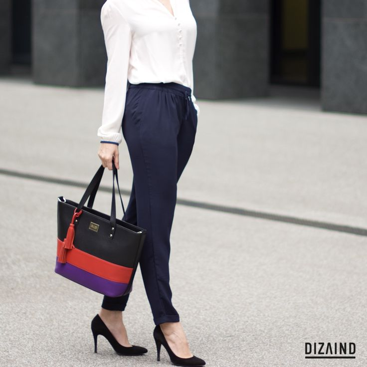 Office style. Tote bag Sofie from www.dizaindbags.com #work-outfits #officestyle #totebag #dizaind