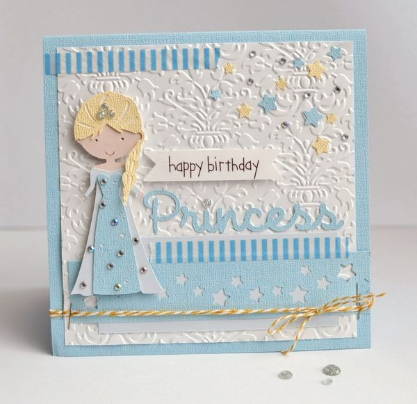 Happy Birthday Princess by Ginger Williams for Queen and Company - Frozen Birthday Card