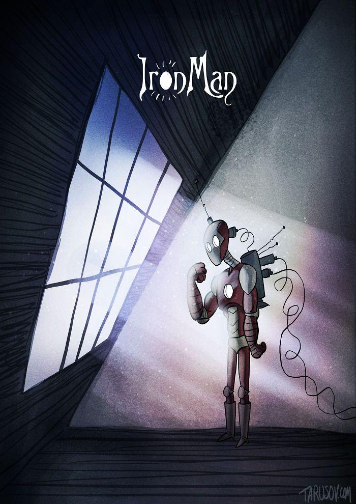 Homem-Aranha, Deadpool e mais   Artista imagina como seriam heróis desenhados por Tim Burton   Omelete