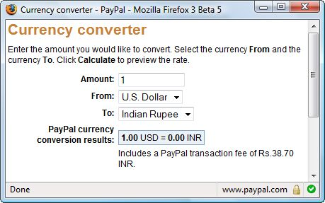 Paypal Forex Fees