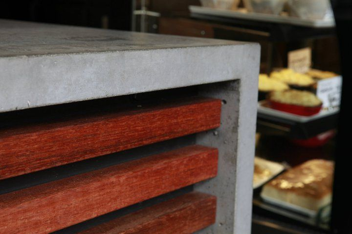 POPconcrete closeup at Five Sisters Coffee Shop