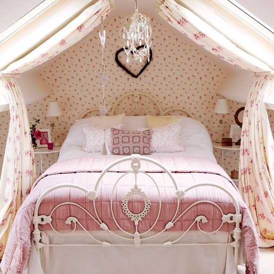 Pink and girly country bedroom