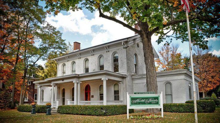 The beginning of the restoration process of the 1848 Havilah Beardsley House in Elkhart, IN