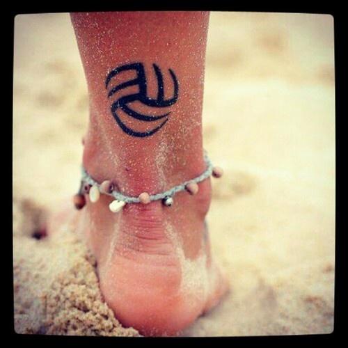 volleyball tattoo @Rachel Kozemko @Brynn Pierce