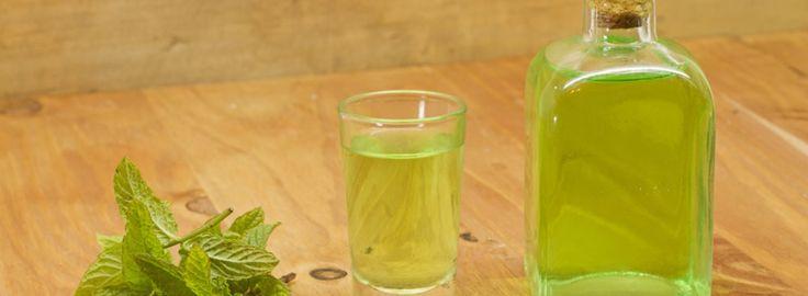 Do 7 dl vodky nebo slivovice přidej 4 hrsti nakrájených mátových lístků. Uzavři a nechej 20 dní odpo...