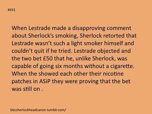 Sherlock head canon